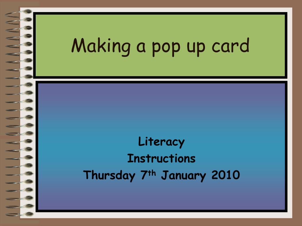 making a pop up card l.