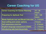 career coaching for ug