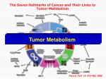 the seven hallmarks of cancer and their links to tumor metabolism