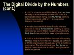 the digital divide by the numbers cont