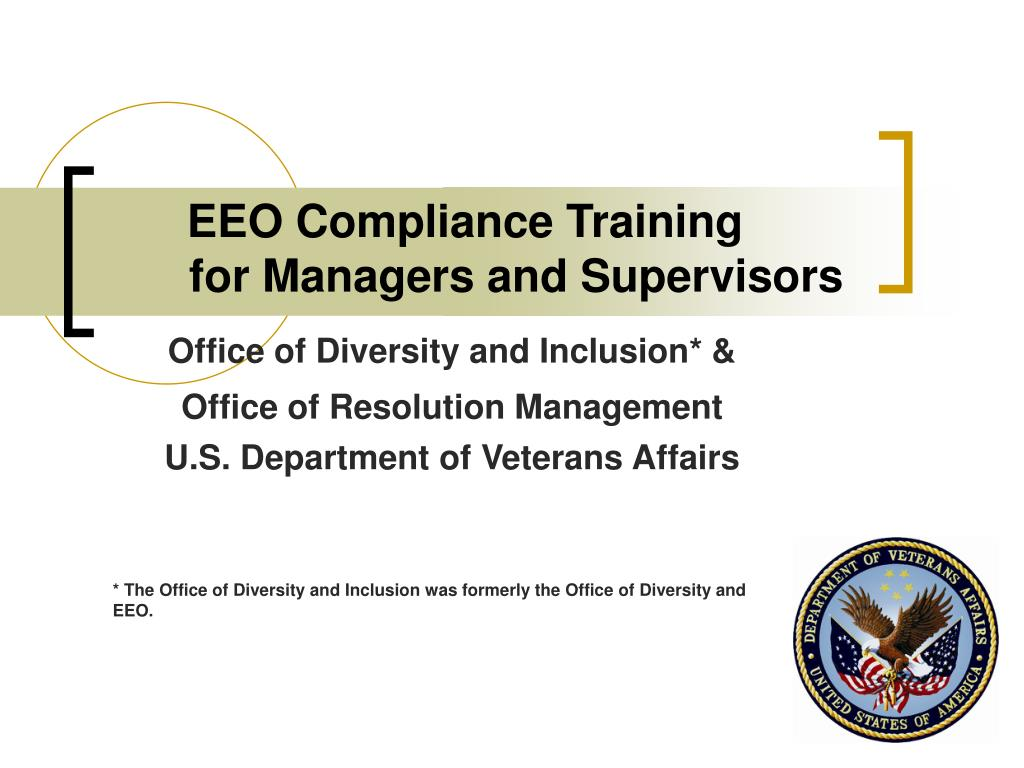 eeo compliance training for managers and supervisors l.