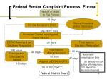 federal sector complaint process formal