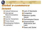 global e commerce issues