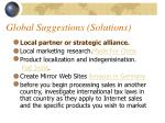global suggestions solutions