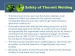 safety of thermit welding