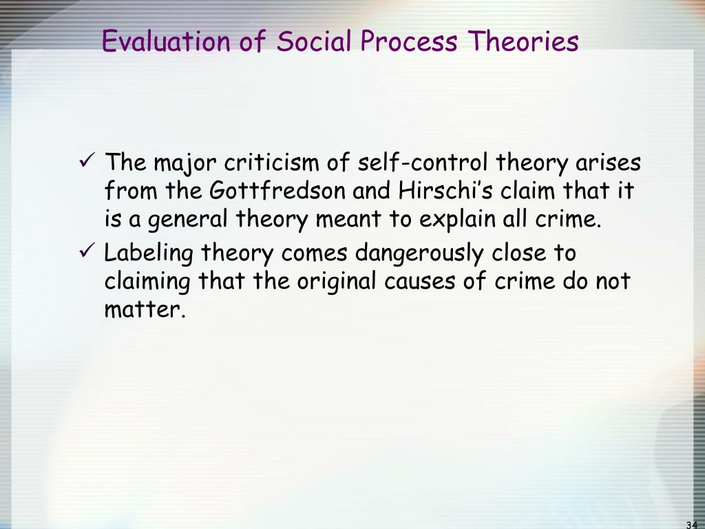 self control theory of crime evaluation View essay - self-control theory of crime evaluation from ajs 514 at university of phoenix 1 self-control theory of crime evaluation julia jewett ajs/514 04/10/2017 steve nance self-control theory.