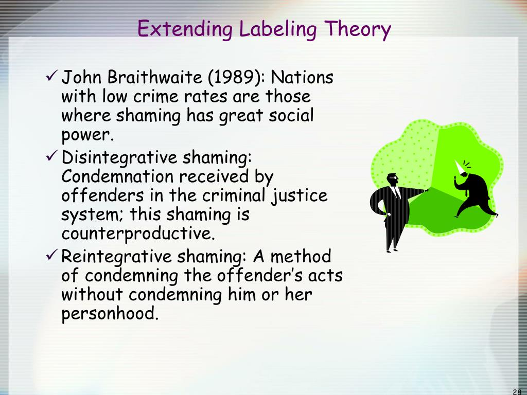 It is a photo of Remarkable Labeling Theory Focuses on
