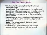the four social bonds