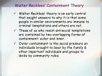 walter reckless containment theory