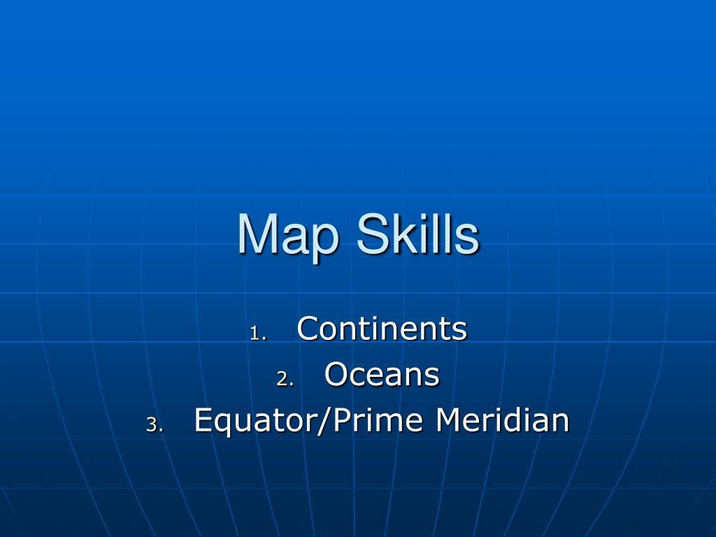 map skills l.