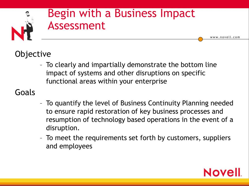 Begin with a Business Impact Assessment