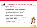 challenges of distributed offices
