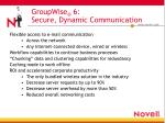 groupwise 6 secure dynamic communication