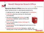 novell nterprise branch office