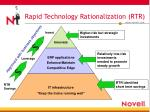 rapid technology rationalization rtr