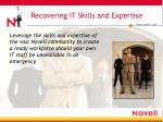 recovering it skills and expertise