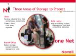 three areas of storage to protect