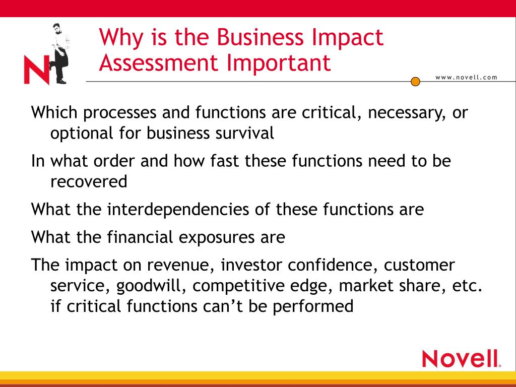 Why is the Business Impact Assessment Important