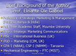 brief background of the author prof elisante ole gabriel