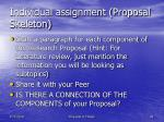 individual assignment proposal skeleton