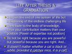 life after thesis graduation