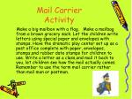 mail carrier activity