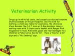 veterinarian activity