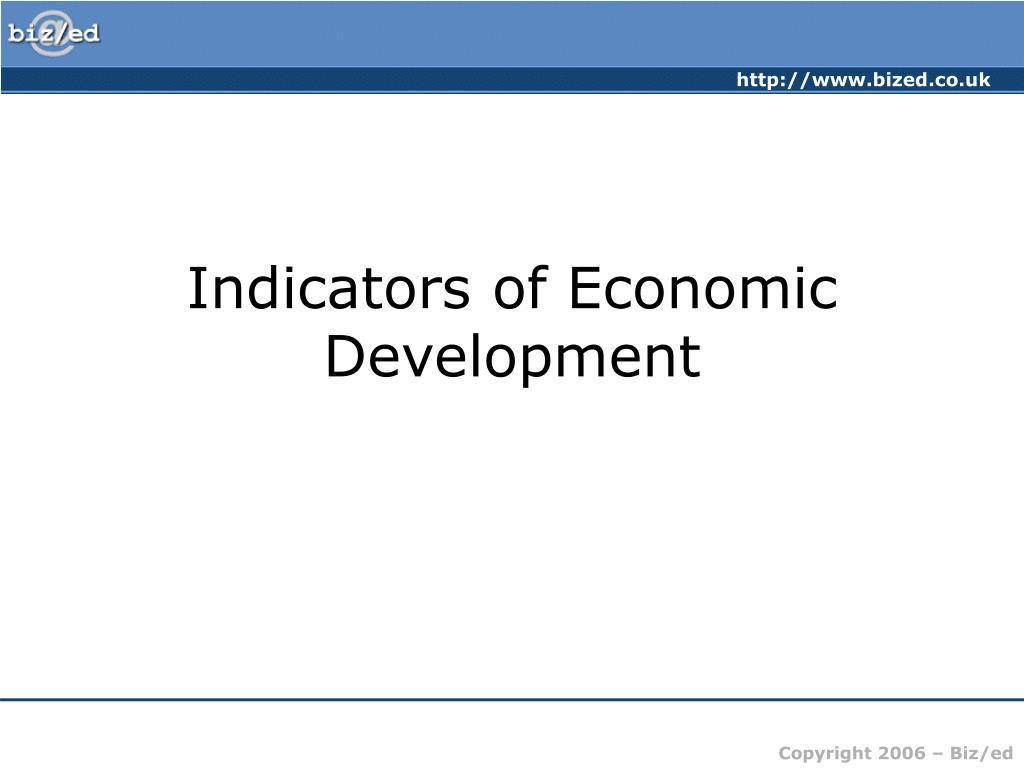 indicators of economic development l.