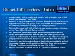 bicnet infoservices intro