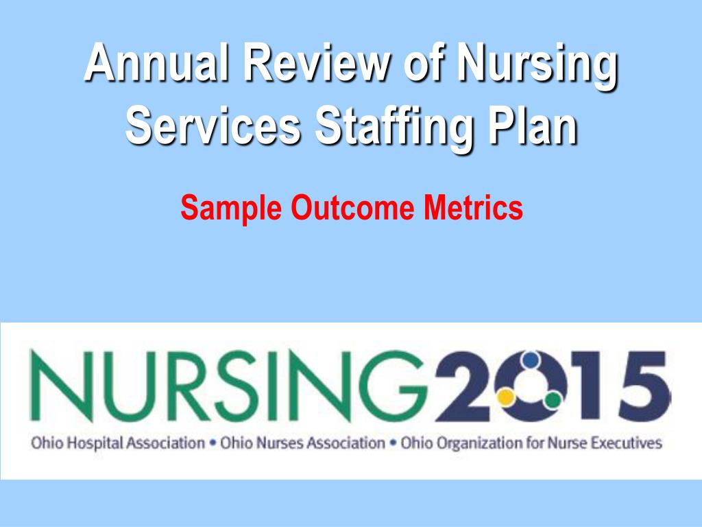 annual review of nursing services staffing plan l.