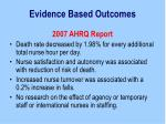 evidence based outcomes9