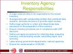 inventory agency responsibilities