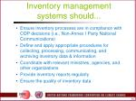 inventory management systems should