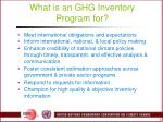 what is an ghg inventory program for
