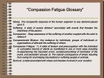 compassion fatigue glossary