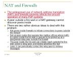 nat and firewalls