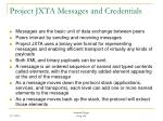 project jxta messages and credentials