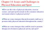 chapter 14 issues and challenges in physical education and sport