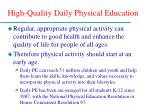 high quality daily physical education