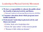 leadership in physical activity movement