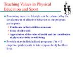 teaching values in physical education and sport8