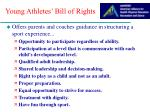 young athletes bill of rights