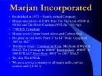marjan incorporated