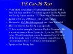 us car 20 test