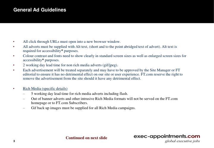 General Ad Guidelines