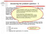 answering the problem question 3