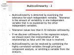 multicollinearity 2