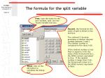 the formula for the split variable