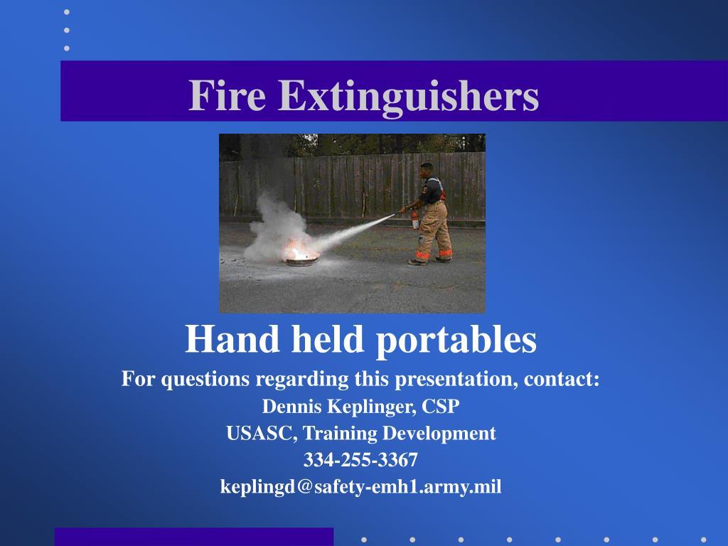 fire extinguishers l.