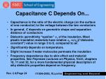 capacitance c depends on